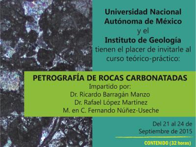 Curso: Petrografía de rocas carbonatadas