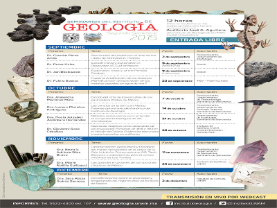 Ciclo de seminarios segundo semestre 2015
