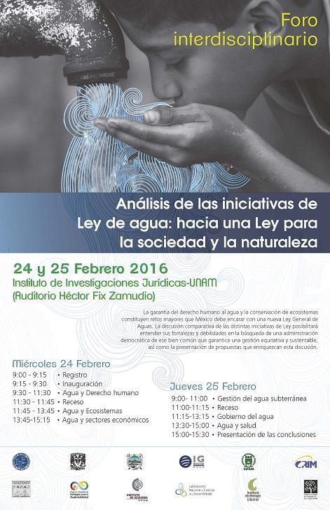 Análisis de las iniciativas de la Ley de agua: hacia una Ley para la sociedad y la naturaleza